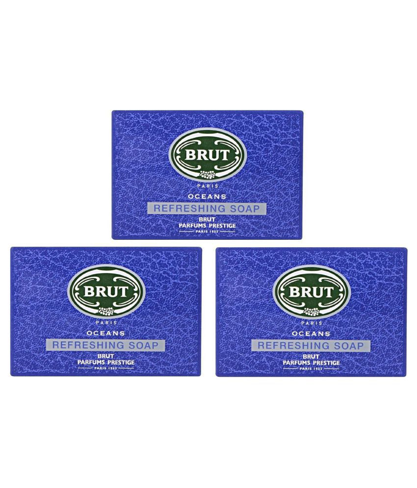 Brut Paris Oceans Revitalizing Soap 375 Gm Pack Of 3 Buy Brut Paris