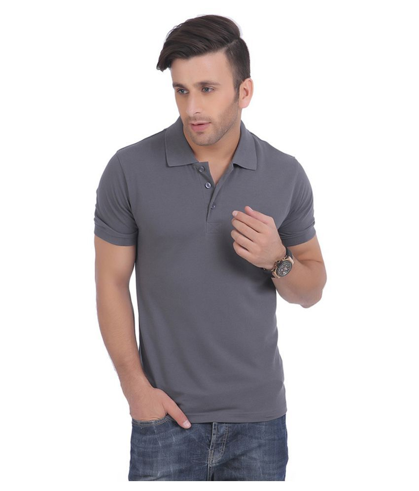 Burdy Grey High Neck T-Shirt