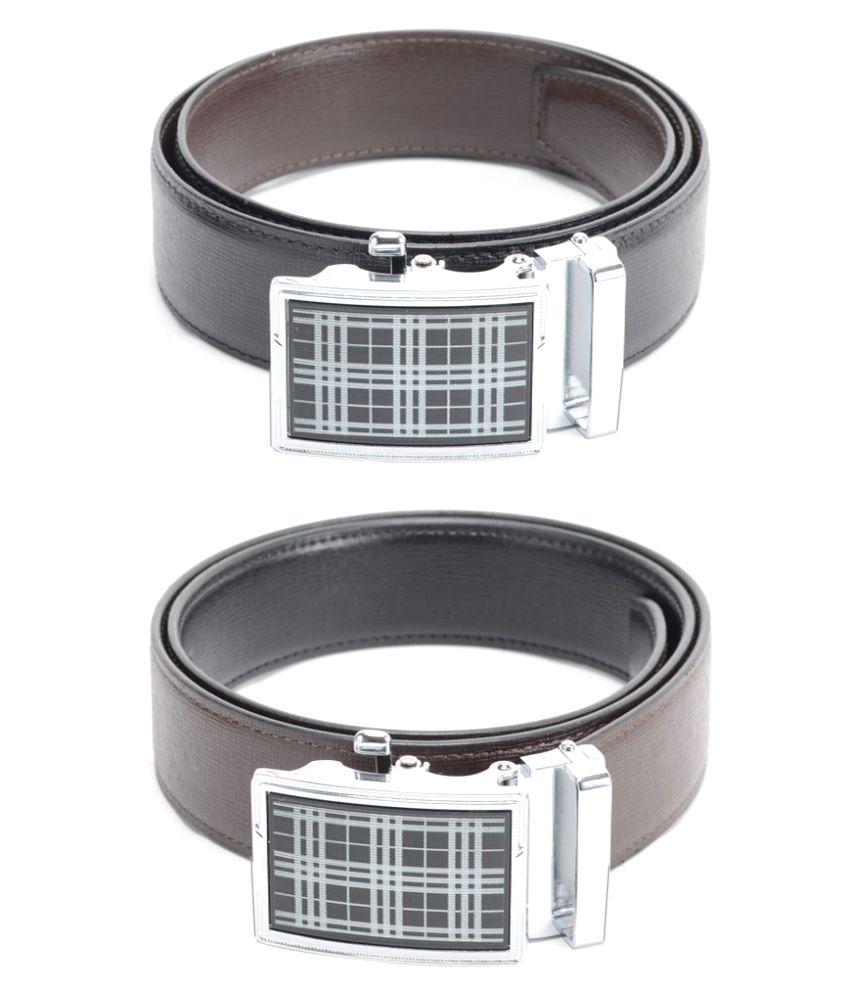 Calvadoss Black PU Party Belts