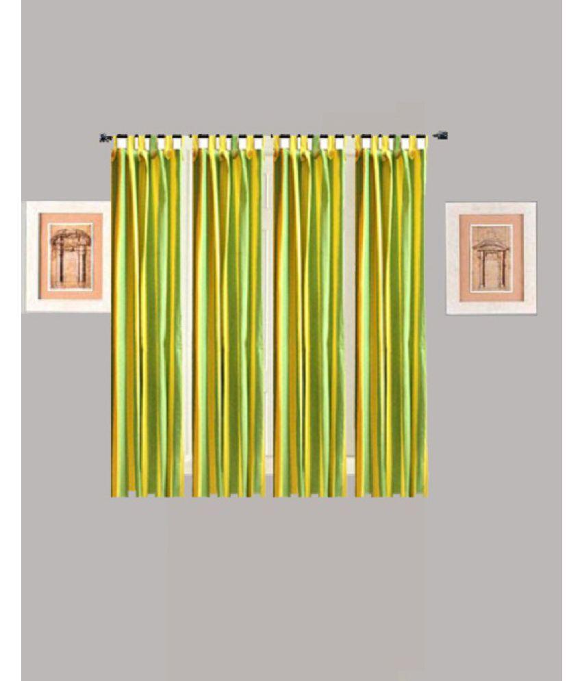 Tidy Set of 4 Window Loop Curtains Stripes Multi Color