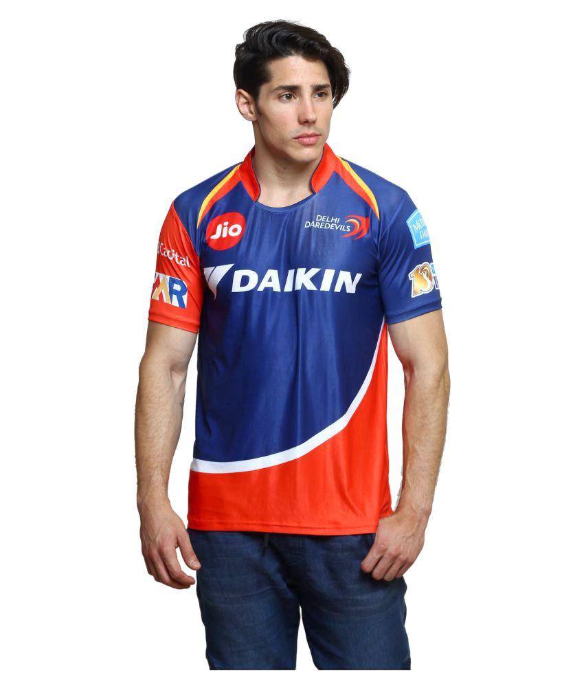 Delhi Daredevils Navy Cotton T-Shirt