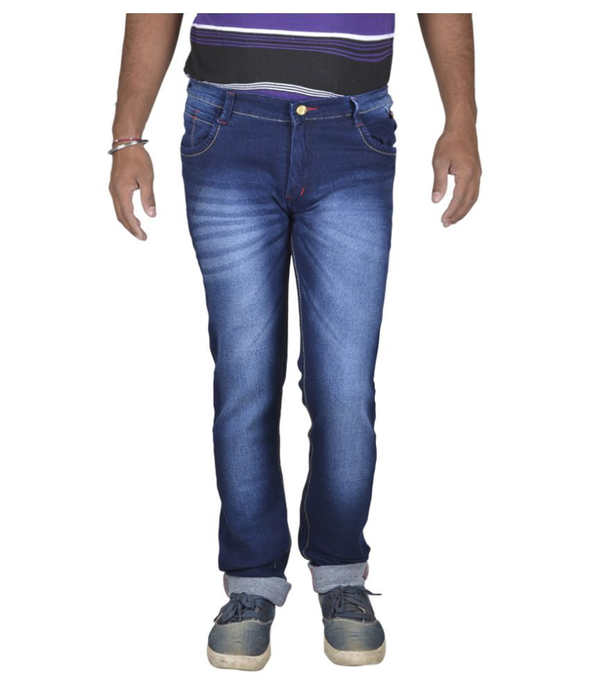 Ragzo Navy Blue Slim Jeans