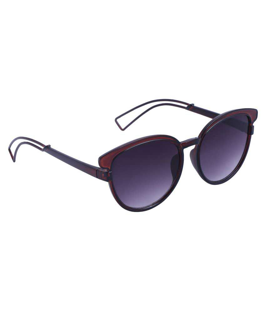 Reyda Purple Cat Eye Sunglasses ( mrn-prpl-cteye-531-01 )