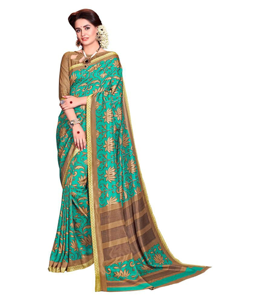 Urban Vastra Green Raw Silk Saree