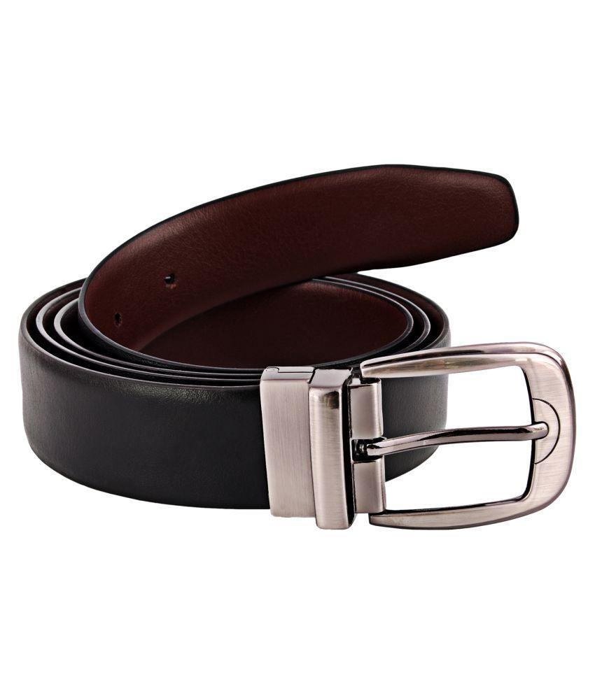 Zint Black Leather Formal Belts