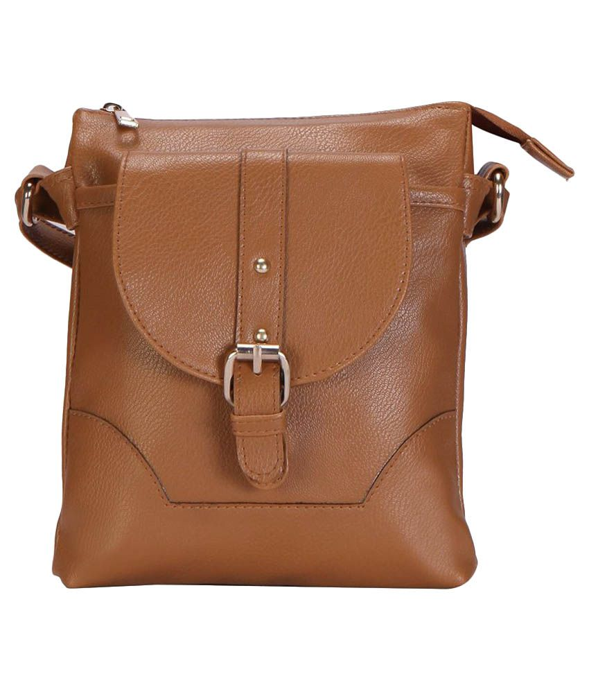 Hanso Collection Brown P.U. Sling Bag