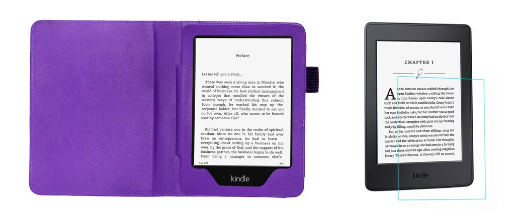 ab1ea47b4a Kindle Paperwhite New 6 Cover Combo By ACM Purple - Cases & Covers Online  at Low Prices | Snapdeal India