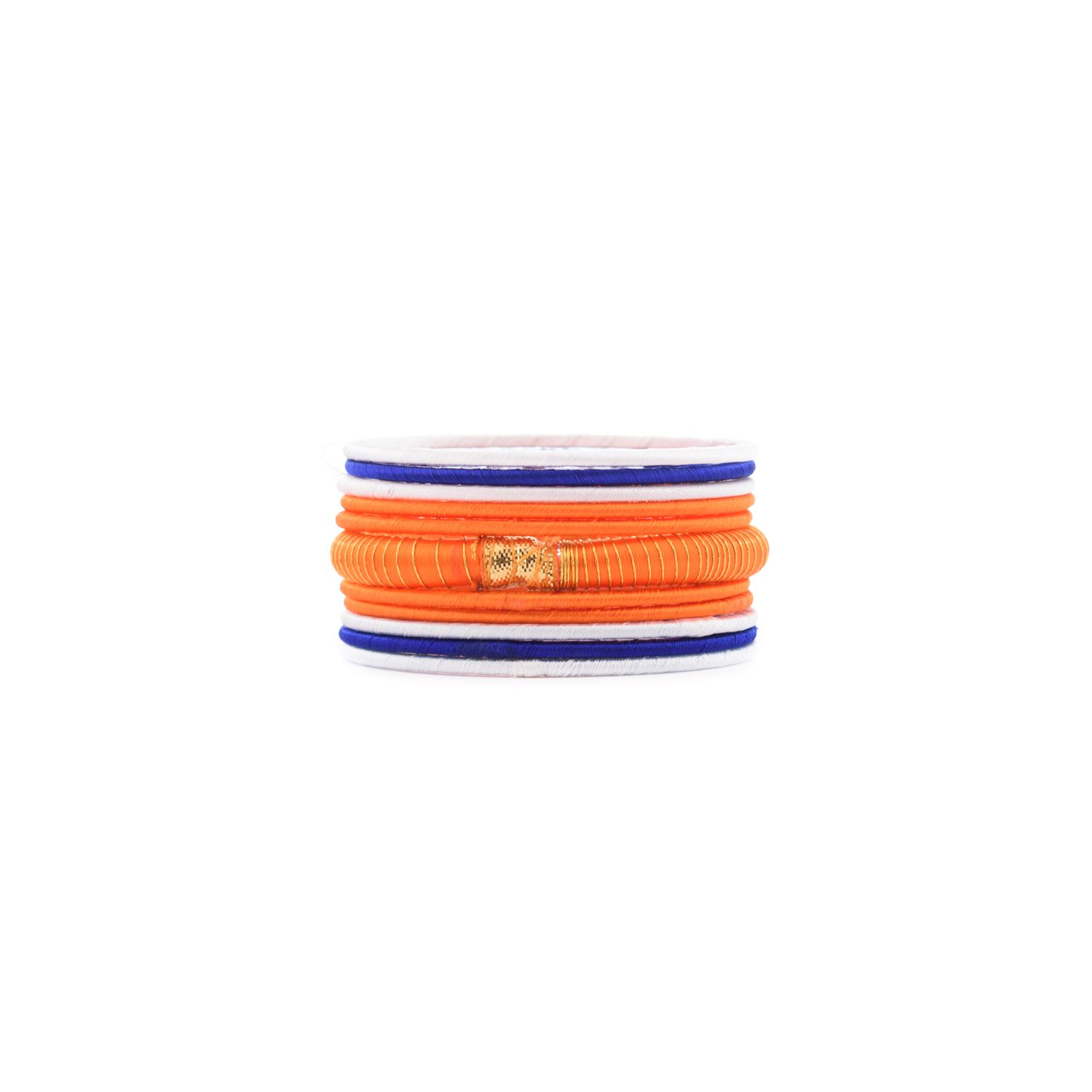 Thirsty Guys Multi Color Silk Thread Plastic Bangle Set For Women
