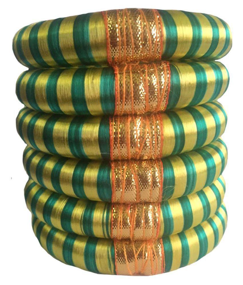 Thirsty Guys Multi Color Silk Thread Plastic Kada Set