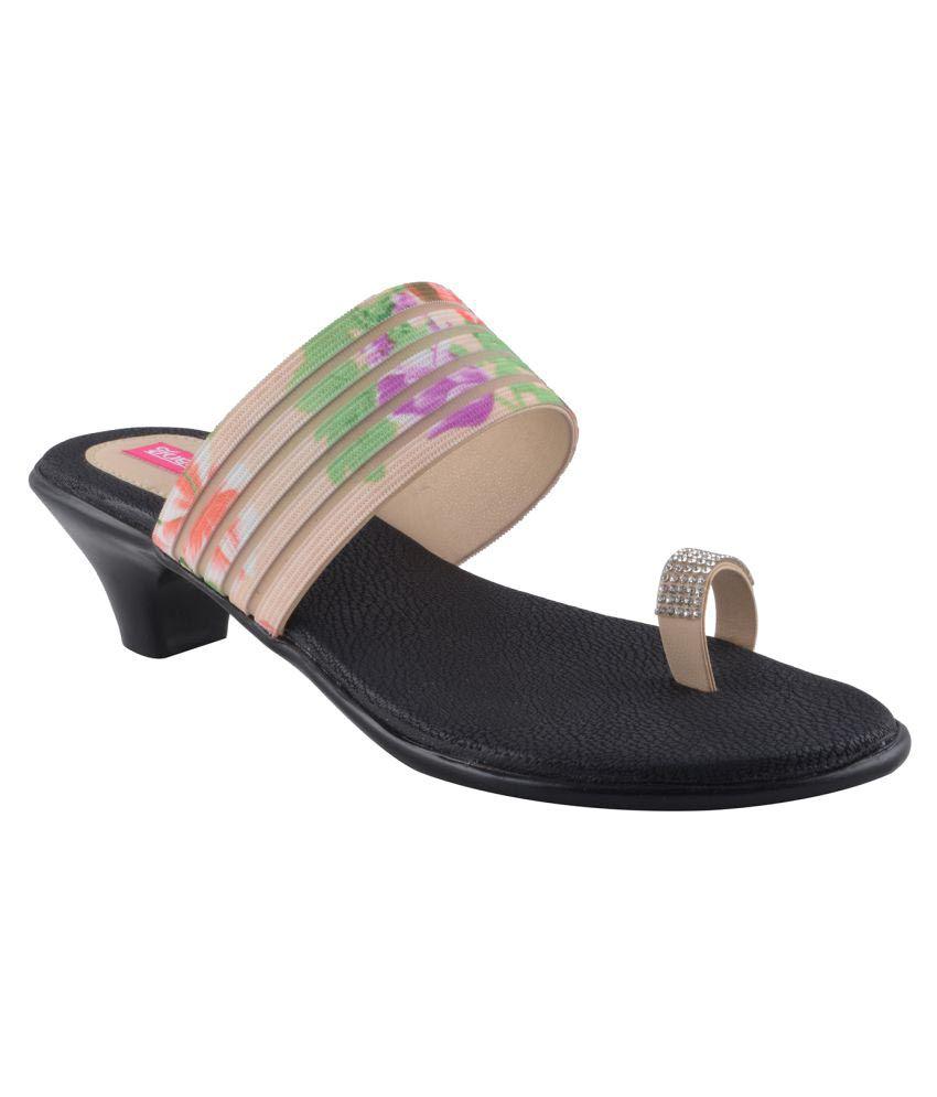 Indirang Multi Color Block Heels