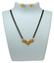 Ankur Imitation Jewellery Gold Plated Brass Mangalsutra Set for Women