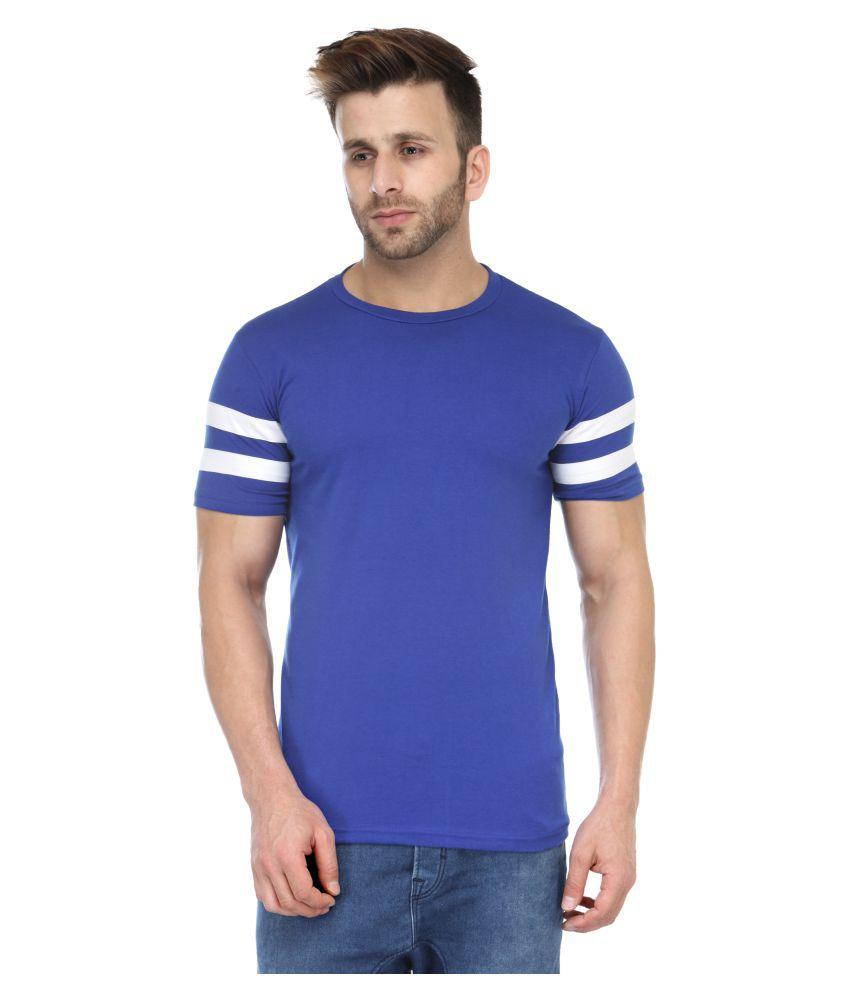 M Style Blue Round T-Shirt