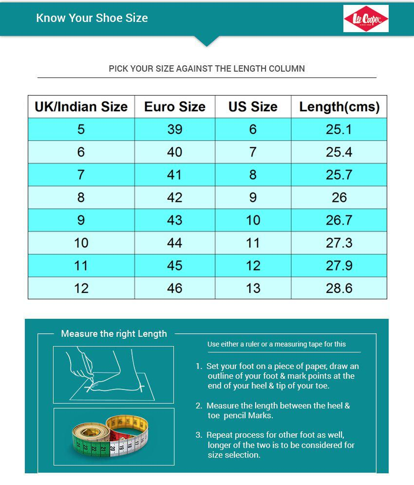 Indian shoe size 6 conversion to uk