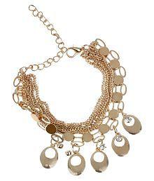 A&PEnterprises Golden Wonderful Artificial Gold Plated Multi Layer Charm Bracelet for Women