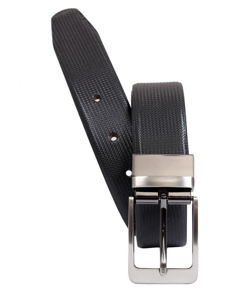 Cotnis Black Leather Formal Belts