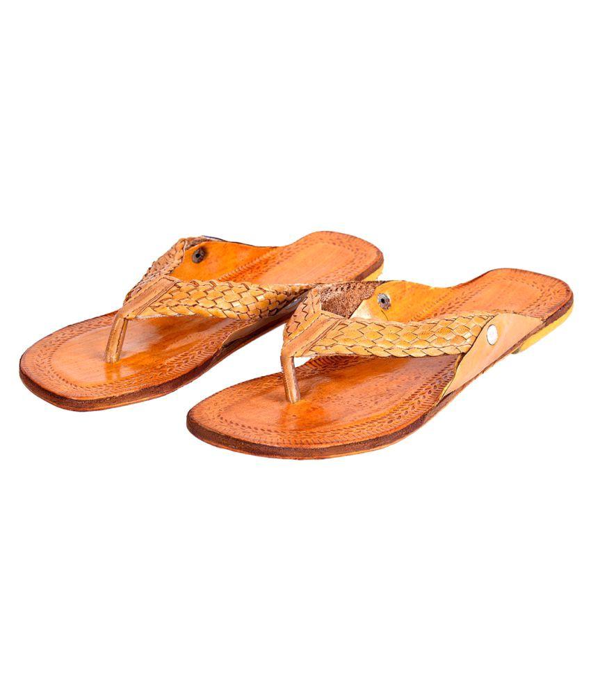 Deal Done Brown Flat Ethnic Footwear