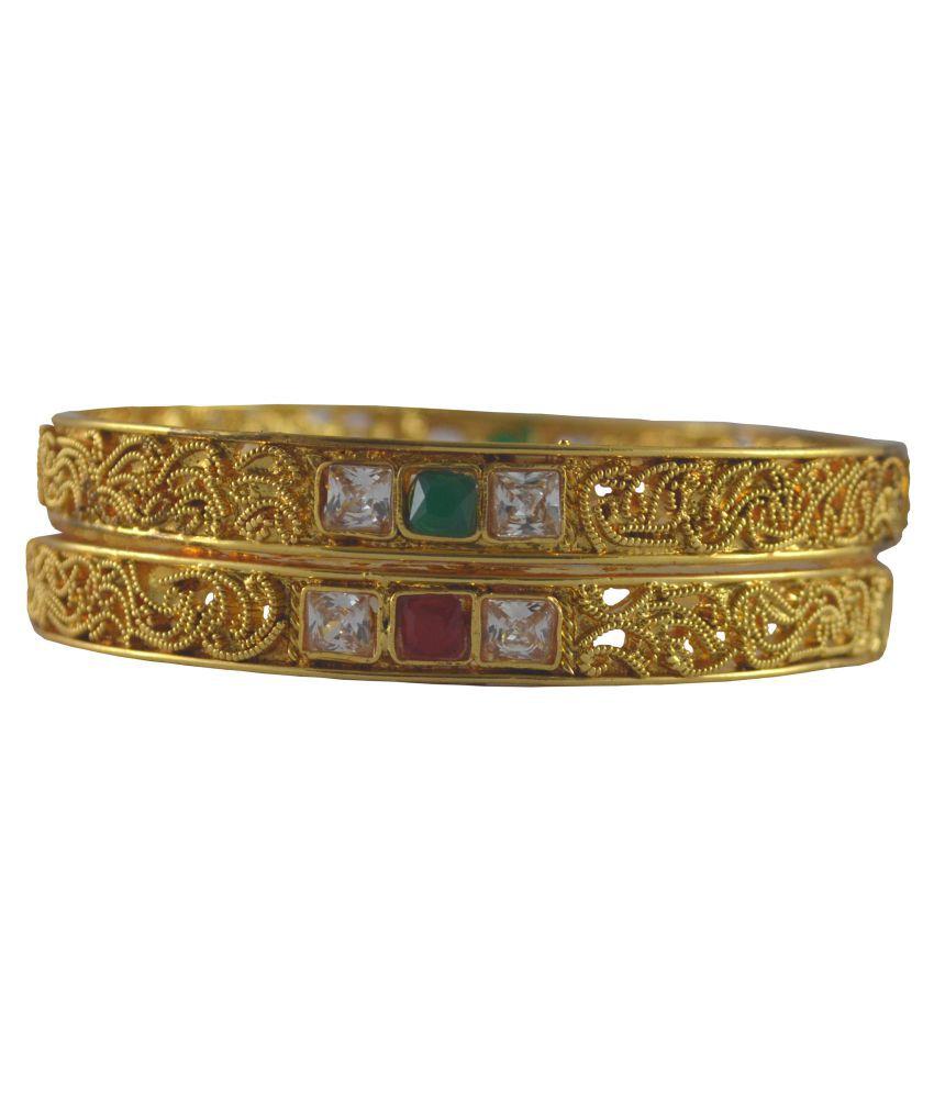 Rejewel Gold Plated Bangle Set