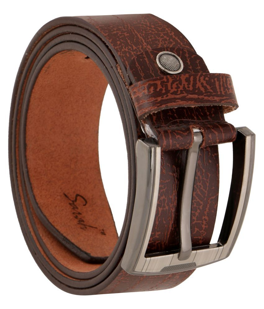 Sarah Brown Leather Casual Belts