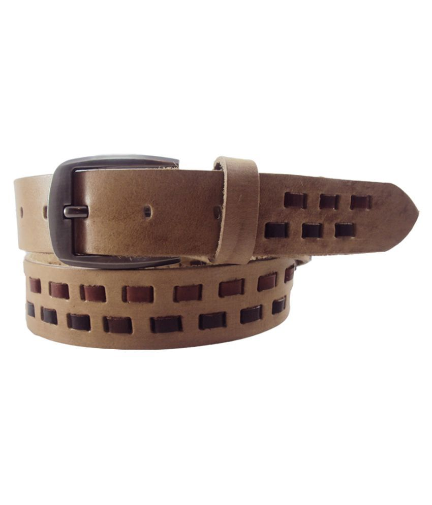 National Leathers Tan Leather Casual Belts