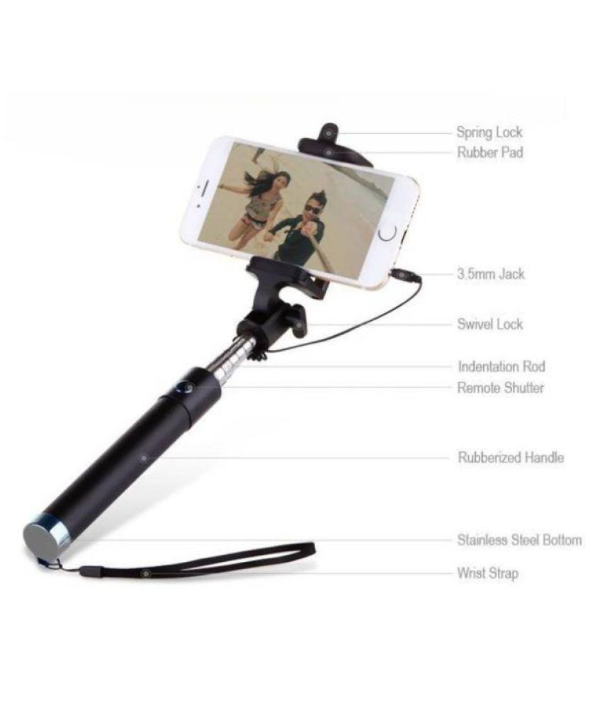 97831947a54 Shutterbugs Aux Wire Selfie Stick - Black - Selfie Sticks ...