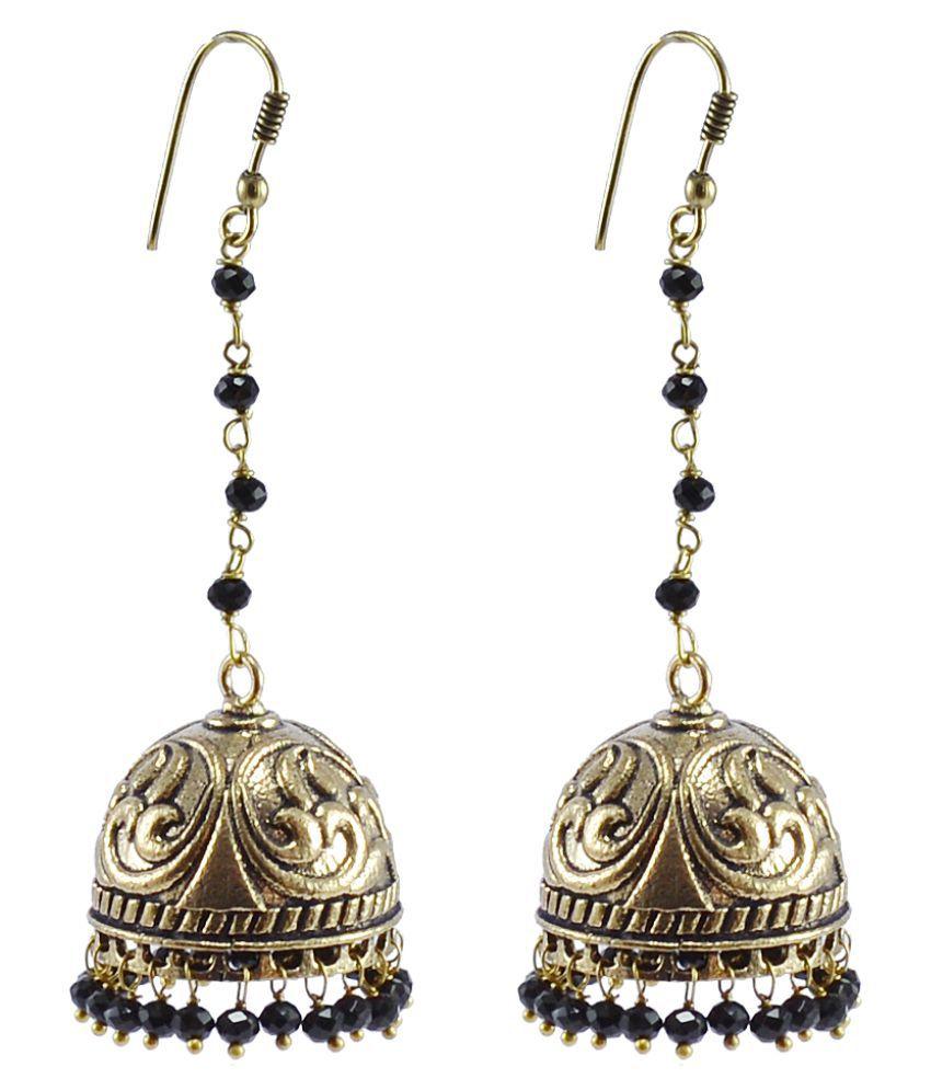 Silvesto India Multicolor Jhumki Earrings