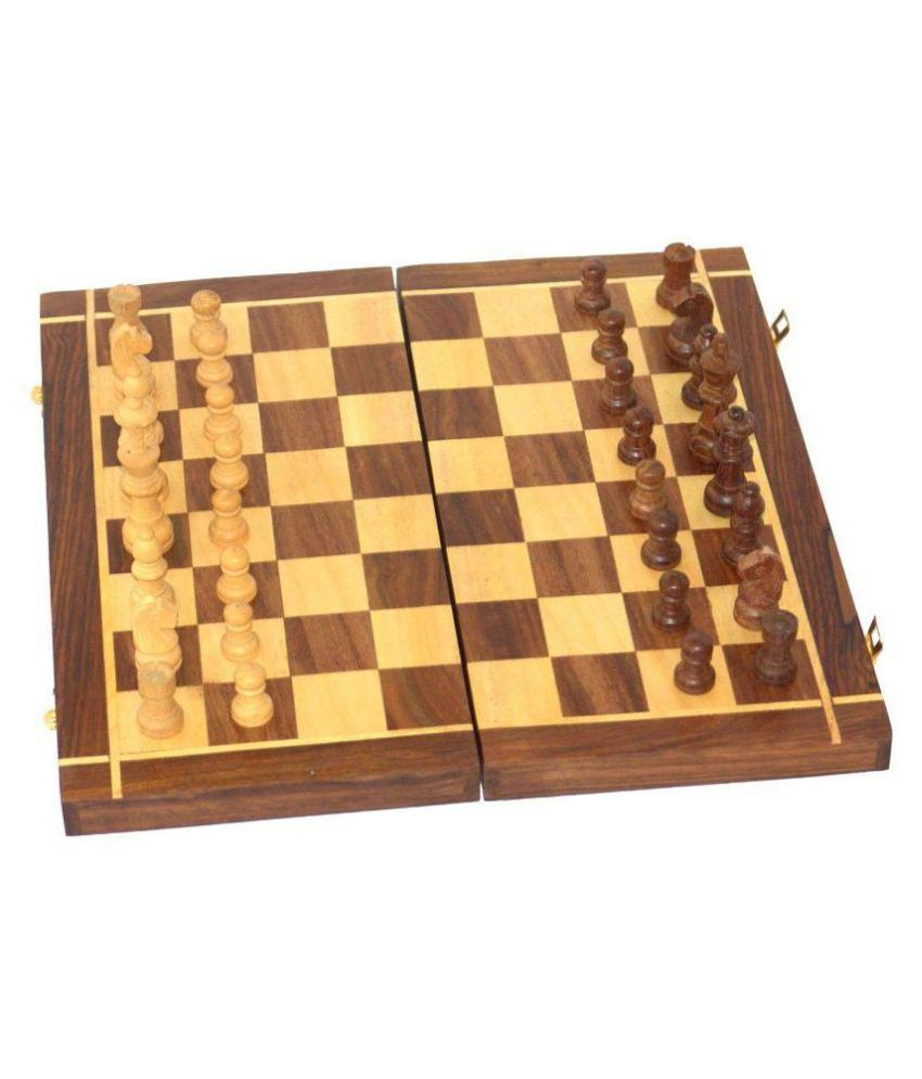 CRUZ INTERNATIONAL Wooden Multicolor Chess 10