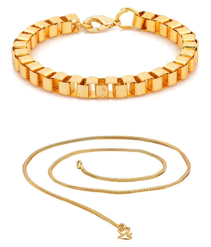 NIA Exclusive Featuring Bracelet with Gold Chain