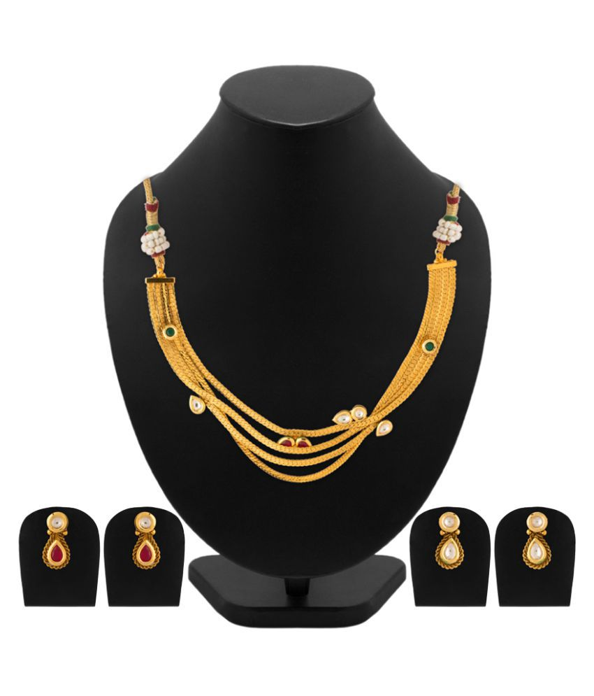 Voylla Kundan Necklace Set Combo For Women