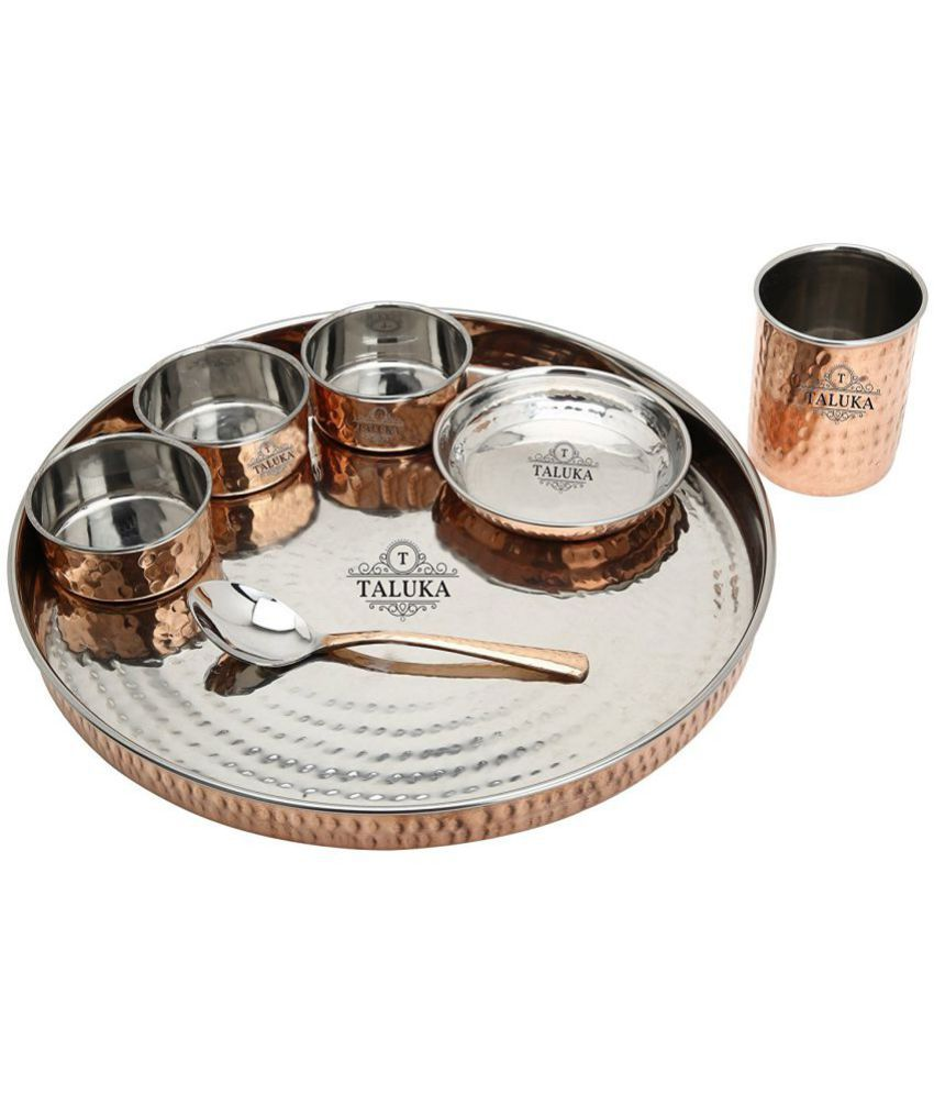 Taluka Stainless Steel Dinner Set of 7 Pieces