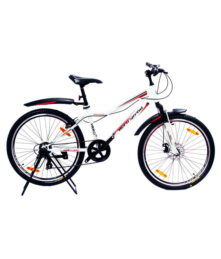 Hero Sprint Skyler 7 Speed 26T White 66.04 cm(26) Hybrid bike Bicycle ...