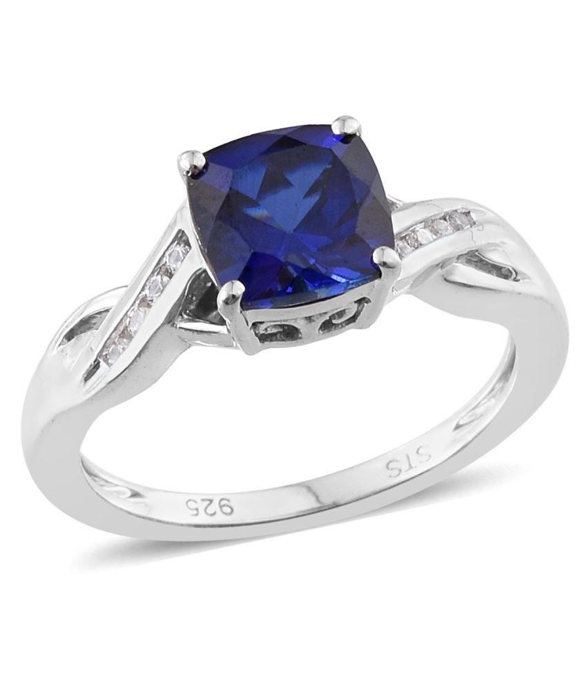Vaibhav 92.5 Silver Sapphire Ring