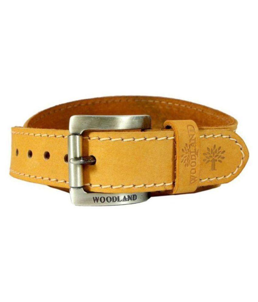 Woodland Orange Leather Casual Belts