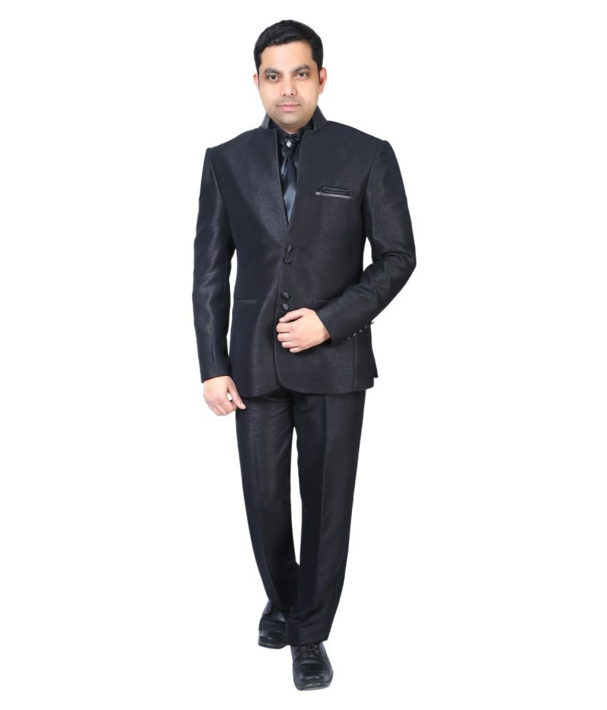Bindals Black Solid Party Suit