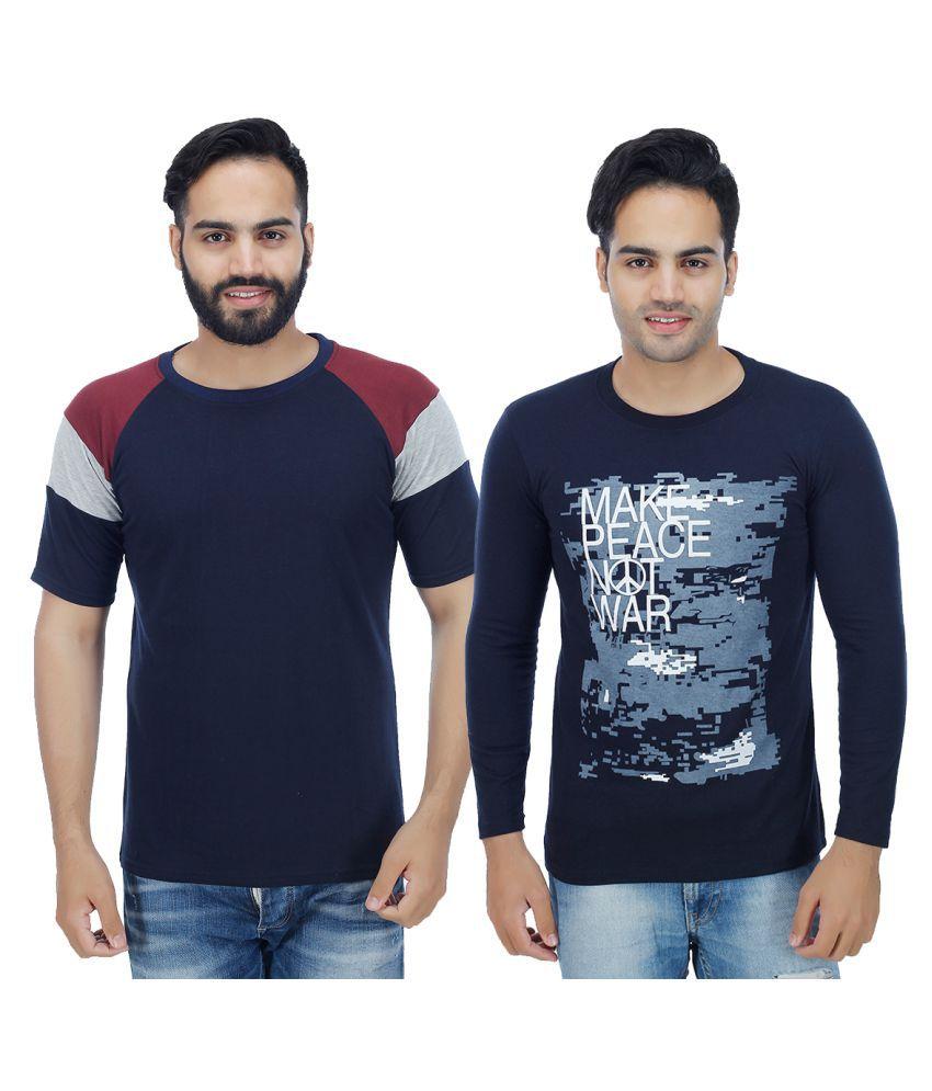 Christy World Navy Round T-Shirt Pack of 2