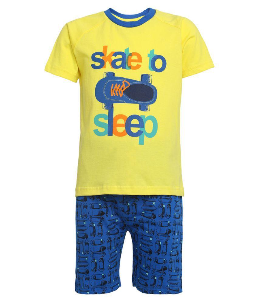 FS MiniKlub Multicolour Cotton Nightsuit Set
