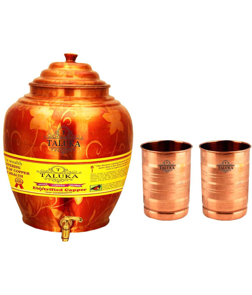 Taluka Copper Water Container Set of 3