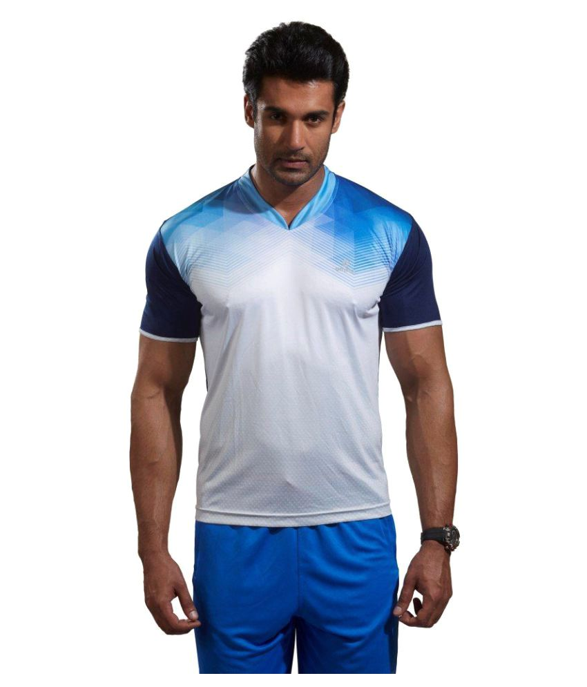 Omtex Navy Polyester Active Wear T-Shirt
