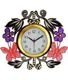 Brothers Creation Rectangular Analog Wall Clock Butterfly Flowers 15 - Pack Of 1
