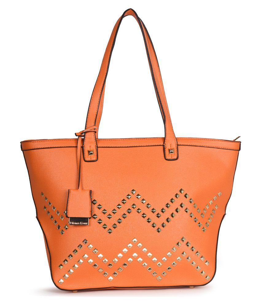 Diana Korr Orange P.U. Shoulder Bag