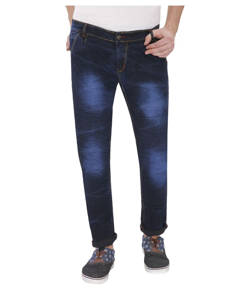 Gradely Navy Blue Straight Jeans
