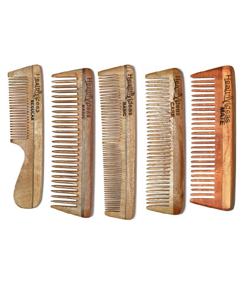 HealthyIdeas Wide tooth Comb Pack of 5