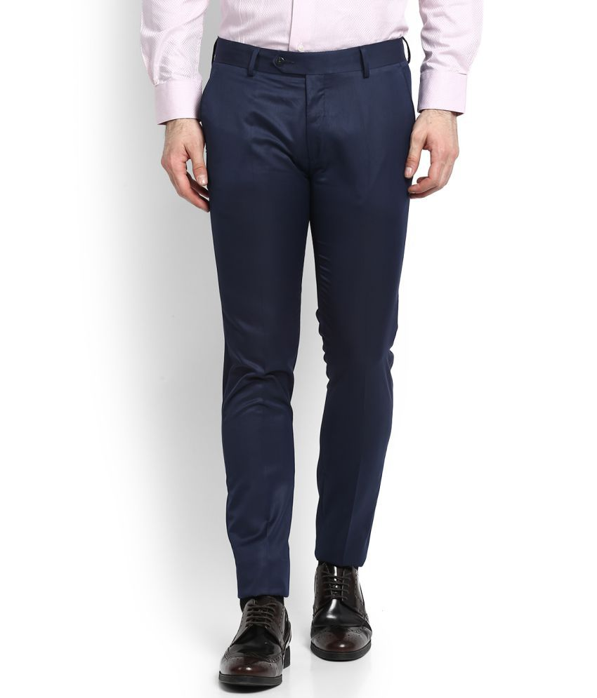 Peter England Blue -Fit Trousers