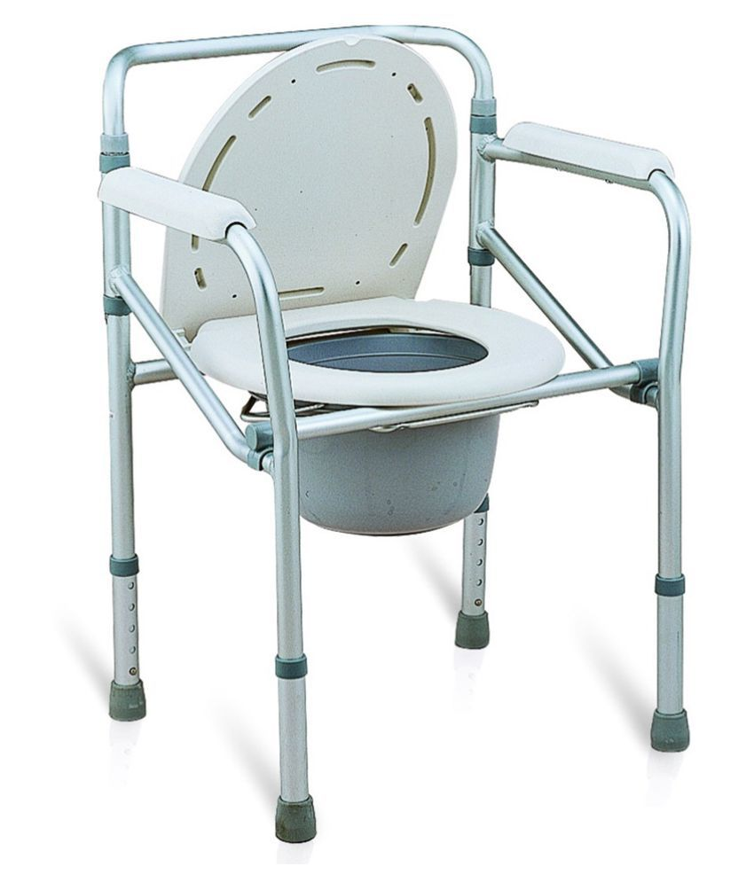 Folding commode chair - Sr Biotech Folding Commode Chair With Seat Cover Manual