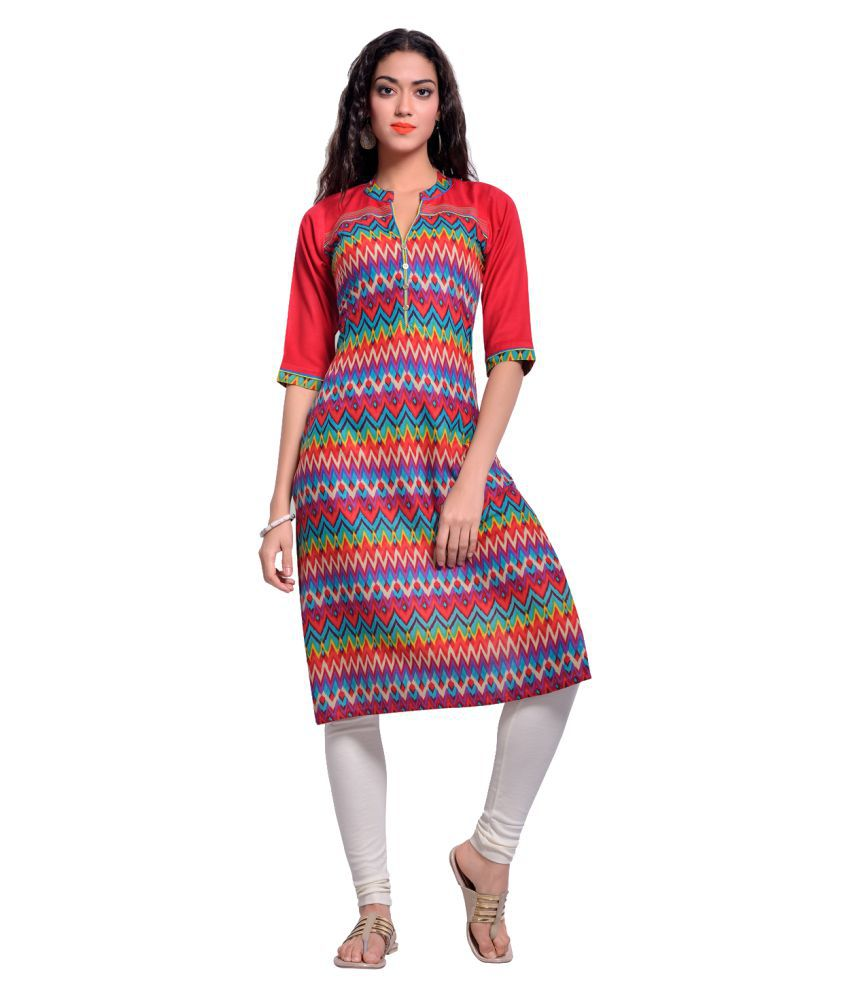 Zola Multicoloured Rayon A-line Kurti