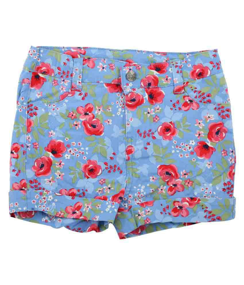 Shishu Floral Shorts for Girls