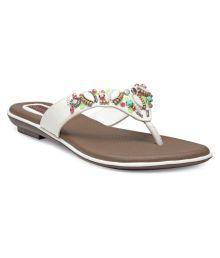 Flat n Heels White Flats