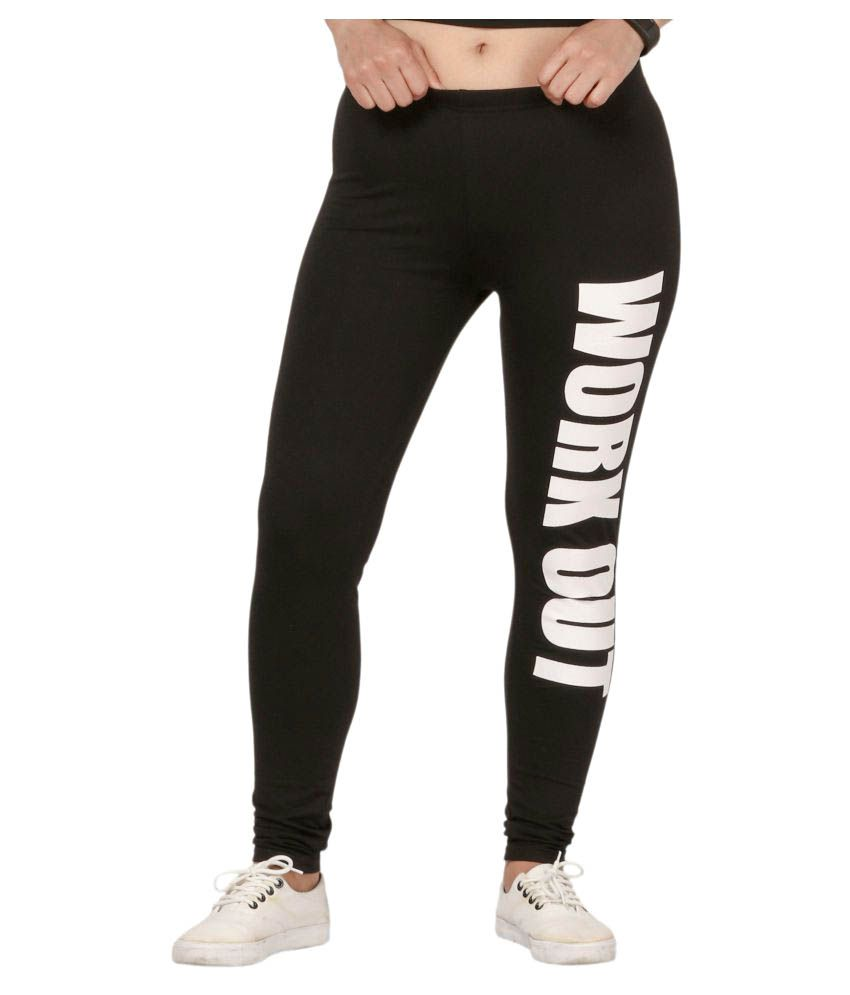 Fit 'N' You Black Cotton Trackpants