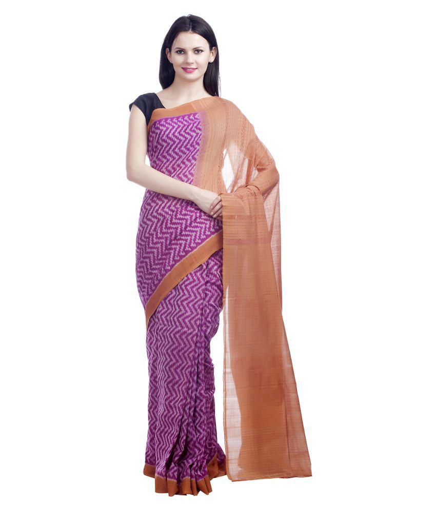 Fibre World Multicoloured Cotton Saree