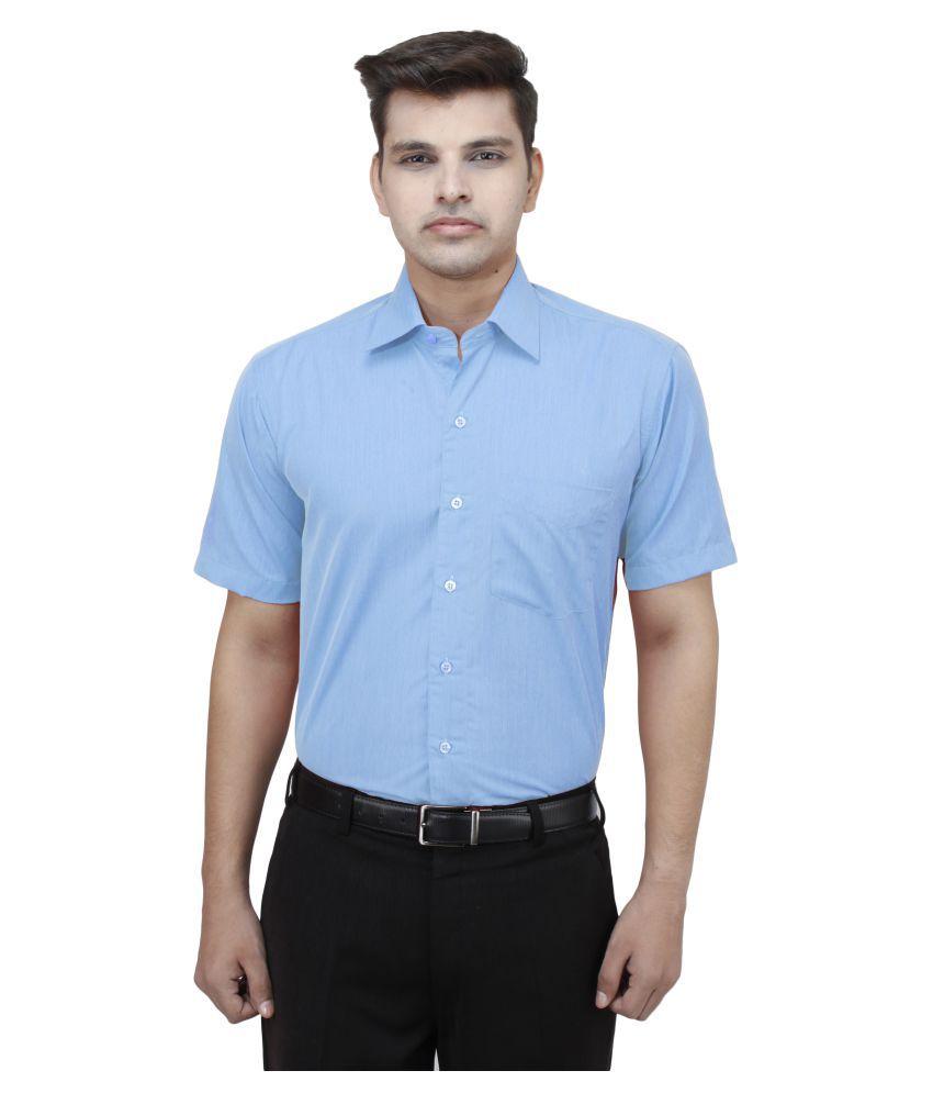 Koutons Outlaw Blue Formal Regular Fit Shirt