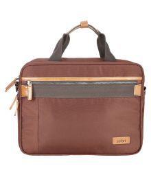 Safari Brown Fabric Office Bag